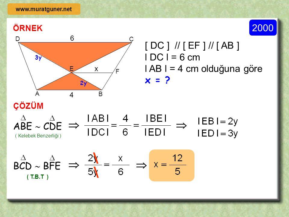     2000 [ DC ] // [ EF ] // [ AB ] l DC l = 6 cm